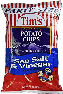 product image for Tim's Cascade Style Potato Chips, Sea Salt & Vinegar, 16 Ounce