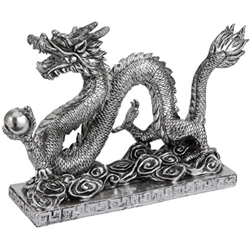 Oriental Furniture 12 Chinese Dragon Statue