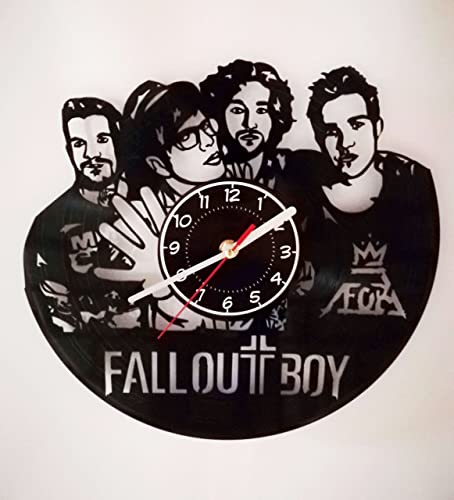 YOU WILL LOVE IT Fall Out BOY Vinyl Record Wall Clock – Best Decor for Your Bedroom – Music Band Gifts – Centuries – Dsnce, Dance