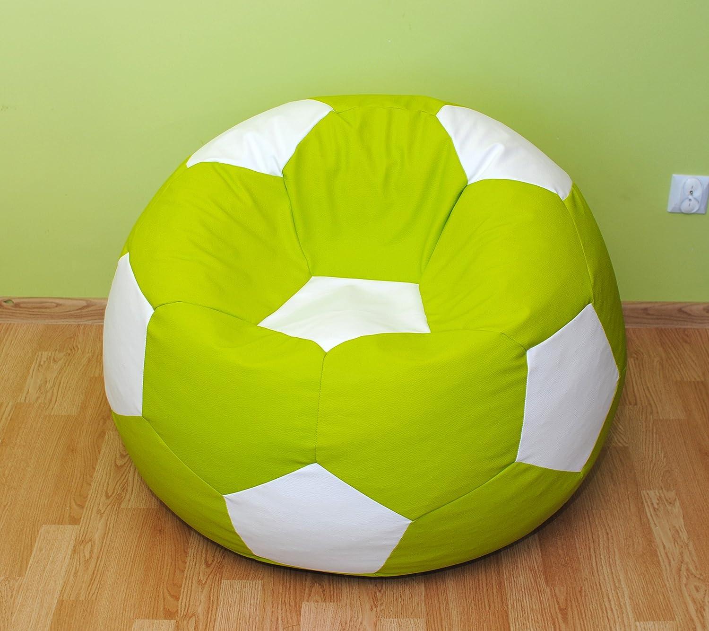 Pallone calcio 100cm. ItalPol Produkt Puff puf pouf pouff poltrona sacco in ecopelle simipelle