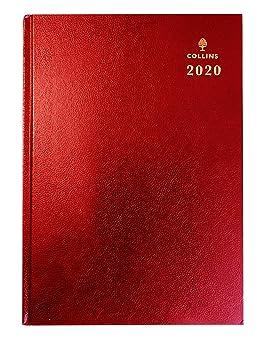 Collins Desk 2020 - Agenda (tamaño A5), color rojo: Amazon ...