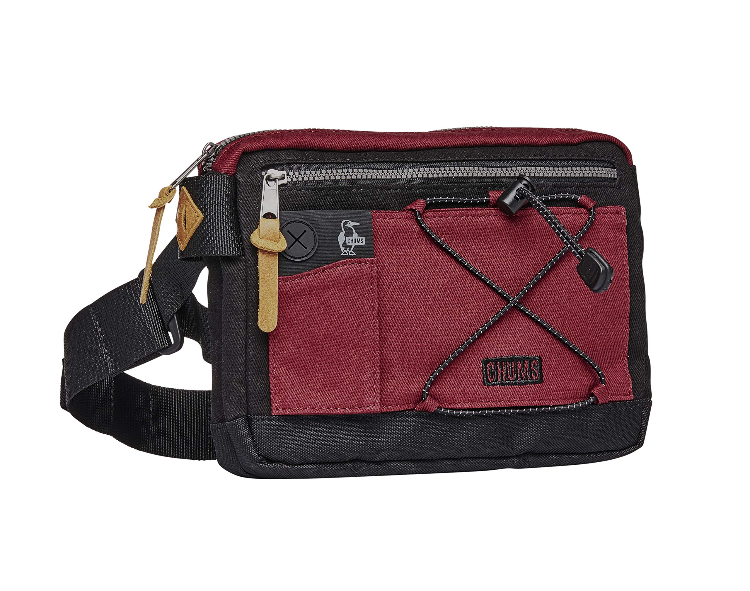 Chums 14079 Scrambler Reflective Waist Pack Shoulder Bag, One Size, Red/Black by Chums