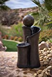 """35"""" Floating Sphere Waterslide Fountain - Indoor/Outdoor Water Feature Great for Patios and Gardens"""