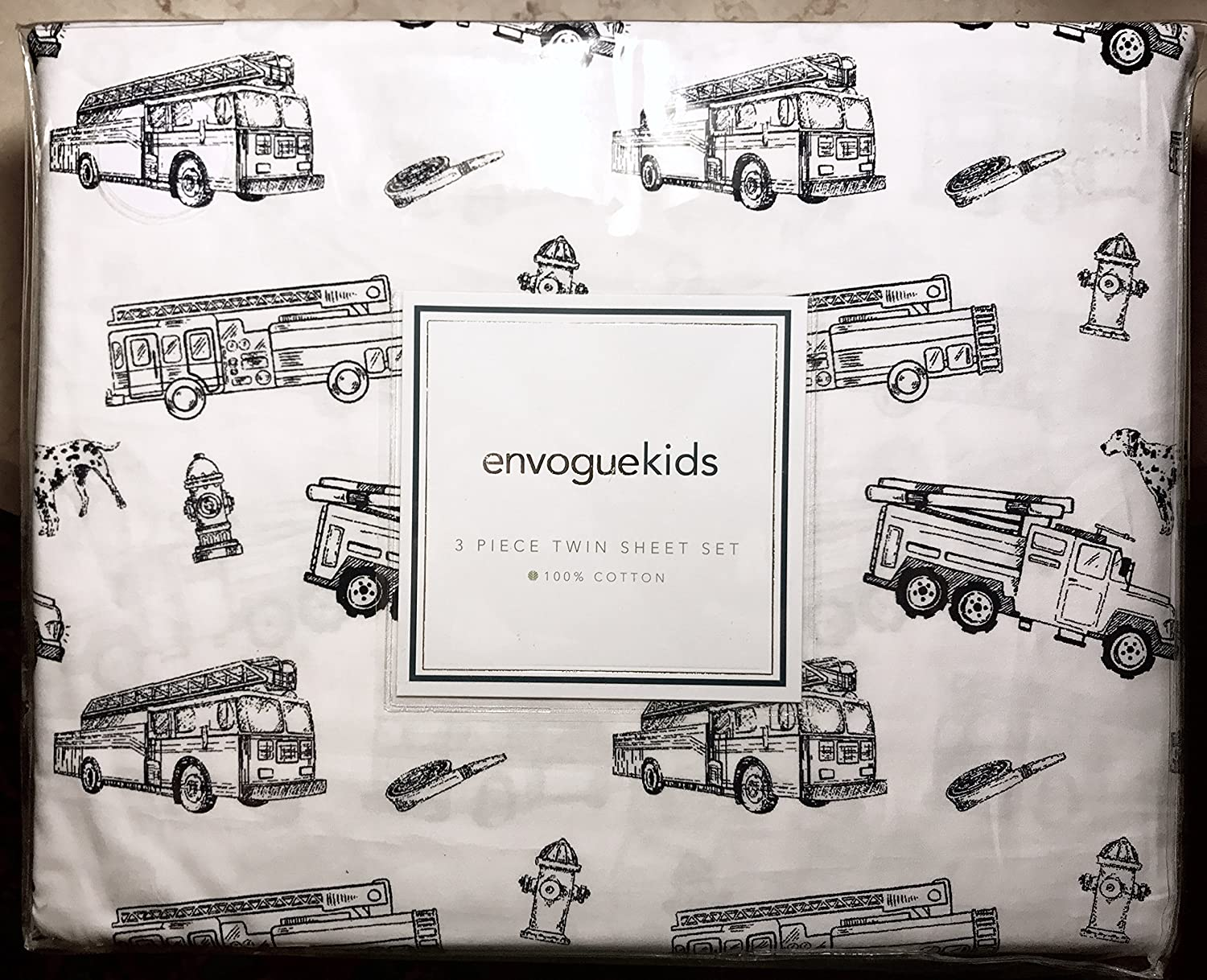Amazon Com Hillcrest Navy Blue Fire Engine Fire Truck Twin Size All Cotton Sheet Set 3 Pc Set Line Drawings Of Fire Trucks Dalmatians Home Kitchen