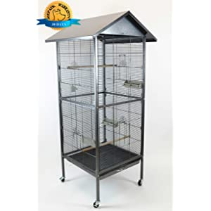Homey Pet House Shape Bird Cockatoo Macaw Cage