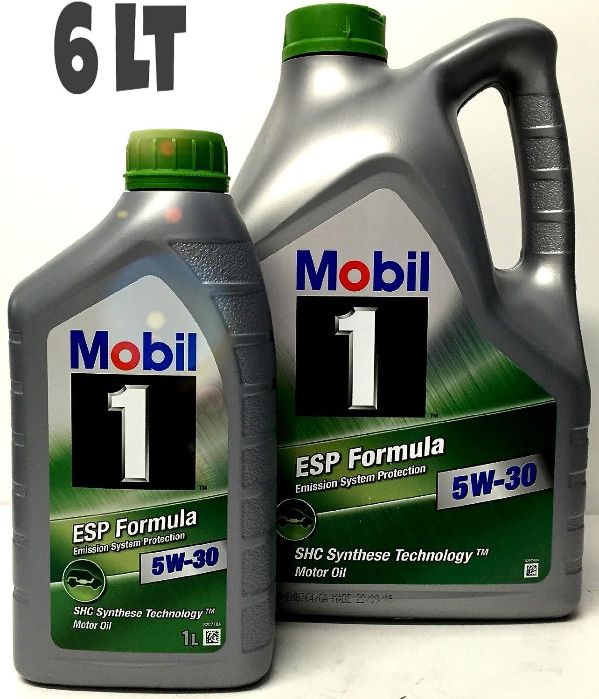 Aceite motor MOBIL 1 ESP FORMULA 5W-30, 6 Litros (5 lts + 1 lt): Amazon.es: Coche y moto
