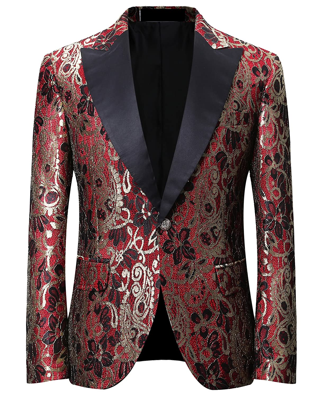 Men's Dinner Jacket Peak Lapel Brilliant Design Tuxedo Tux Wedding Stage Club Party Coat EH1051419