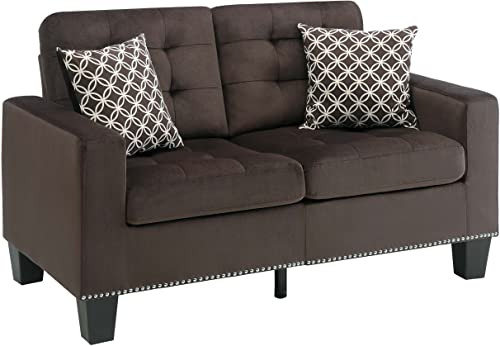 "Homelegance Lantana 57"" Fabric Loveseat"