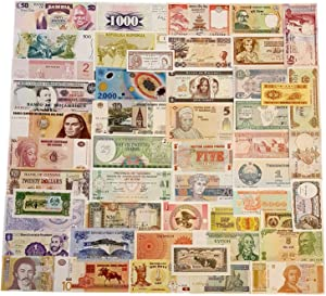 World Banknotes Collection - 50 Pieces of 50 Different World Countries - Foreign, Currency, Uncirculated