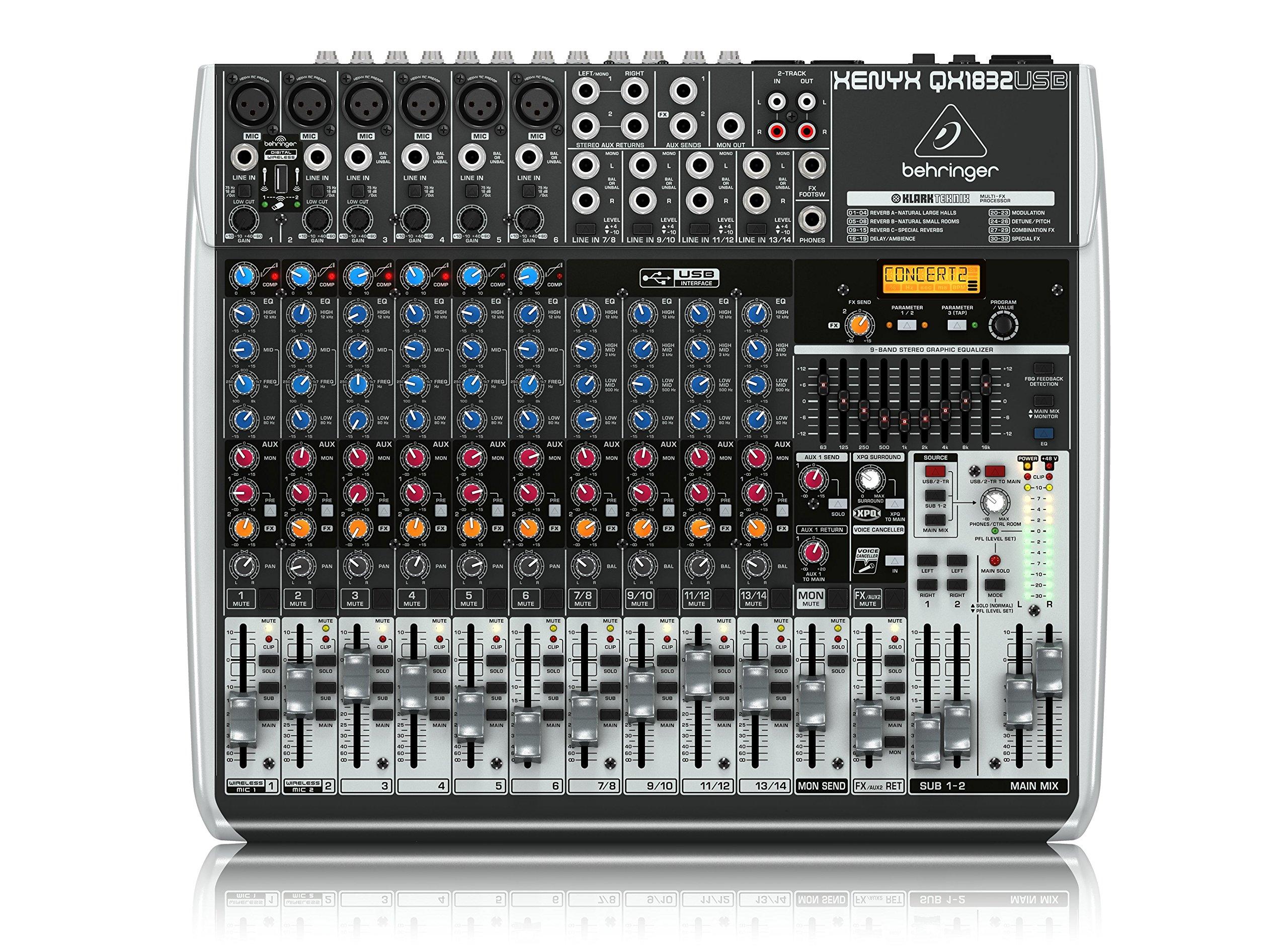 BEHRINGER, 18 Audio Interface, Black (QX1832USB)