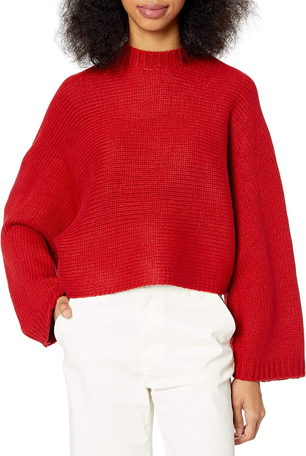 Jack Women's Neck Yourself Cropped Sweater