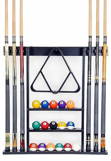 Amazoncom Cue Rack Only 6 Pool Cue Billiard Stick Wall Rack