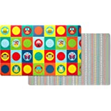 Skip Hop Double Play Reversible Play mat, Zoo/Multi Dots