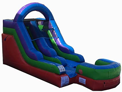Amazon com : 12-Foot Retro Inflatable Water Slide, Wet or