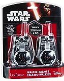 Star Wars Par de walkie talkies, Rango transmisión 2 km, Color Negro y Rojo (Lexibook TW35SW)