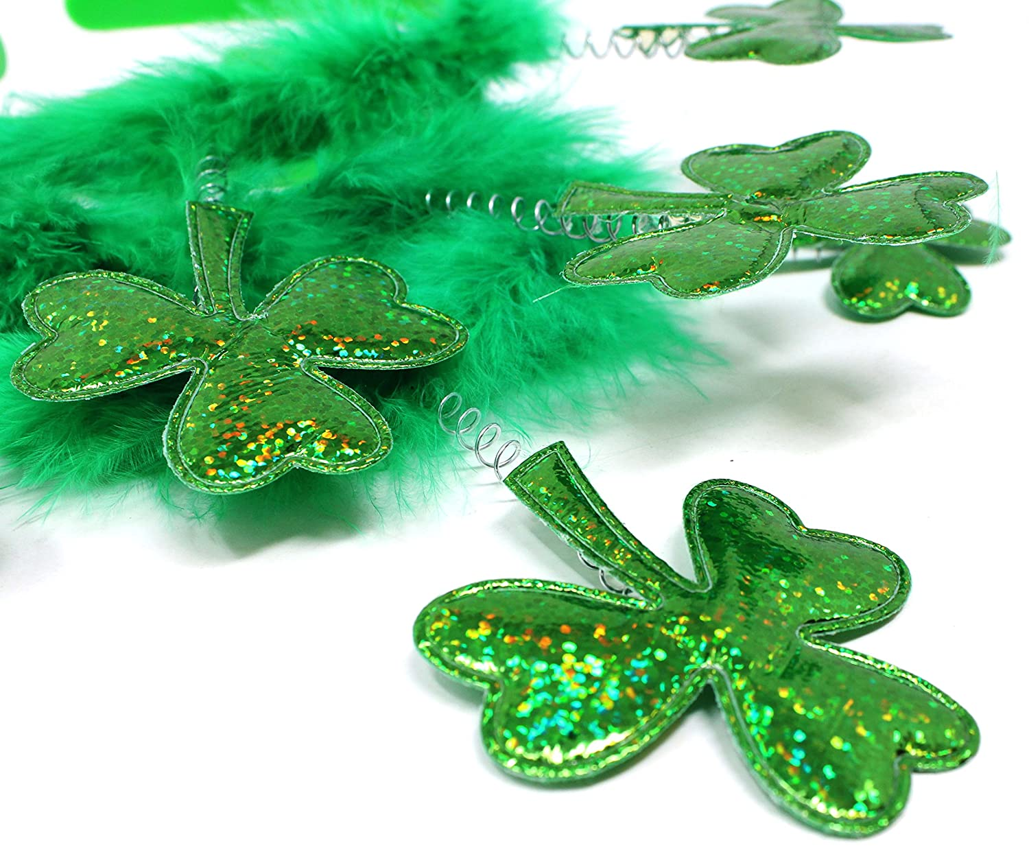 JOYIN 6 Pack St Patricks Day Green Shamrock Clover Headbands//Top Hat Saint Patricks Costume Accessories St Patricks Party Favors Decorations Joyin Inc