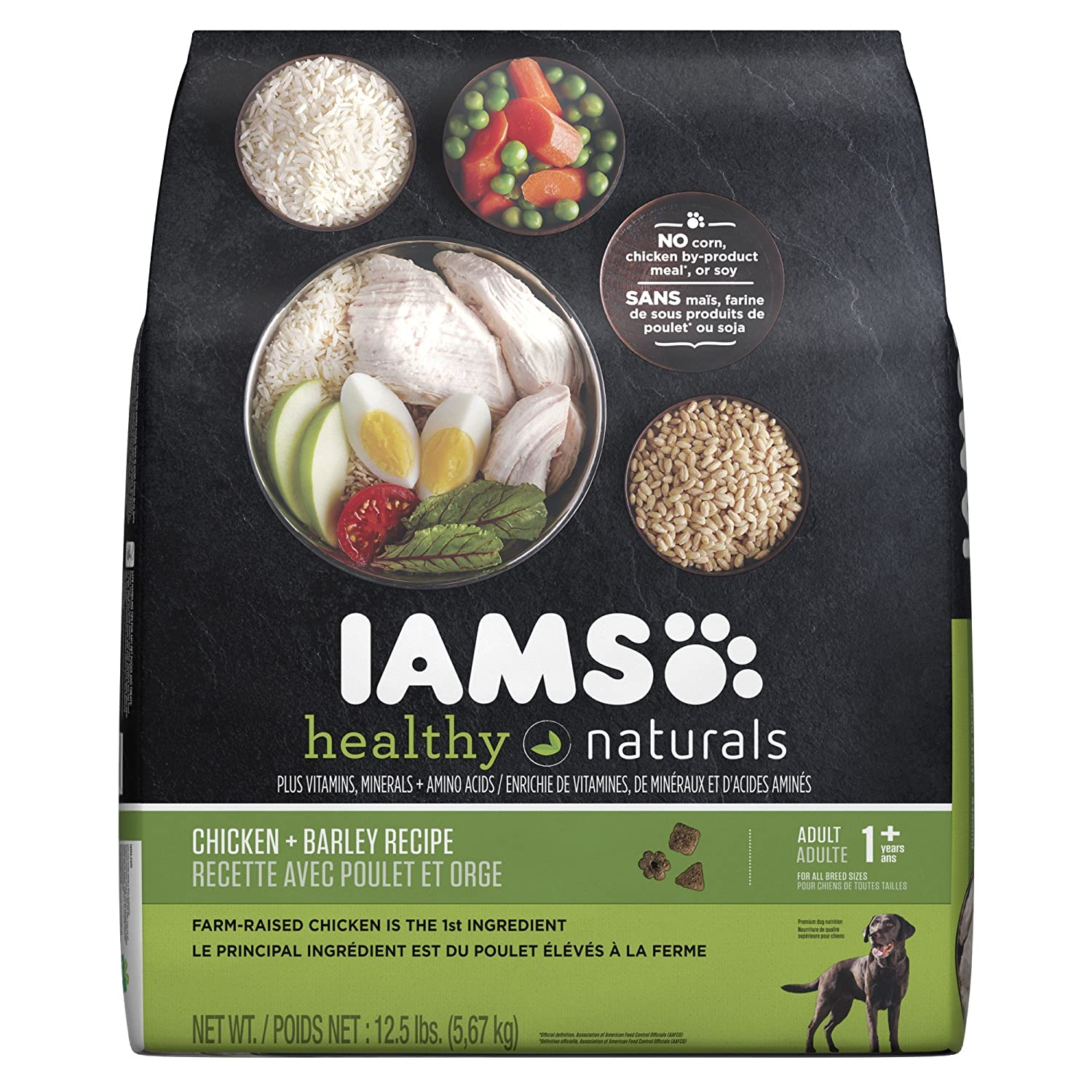 Amazon.com: IAMS Healthy Naturals Adult Dog Chicken and Barley Recipe Dry  Dog Food 12.5 Pounds: Pet Supplies