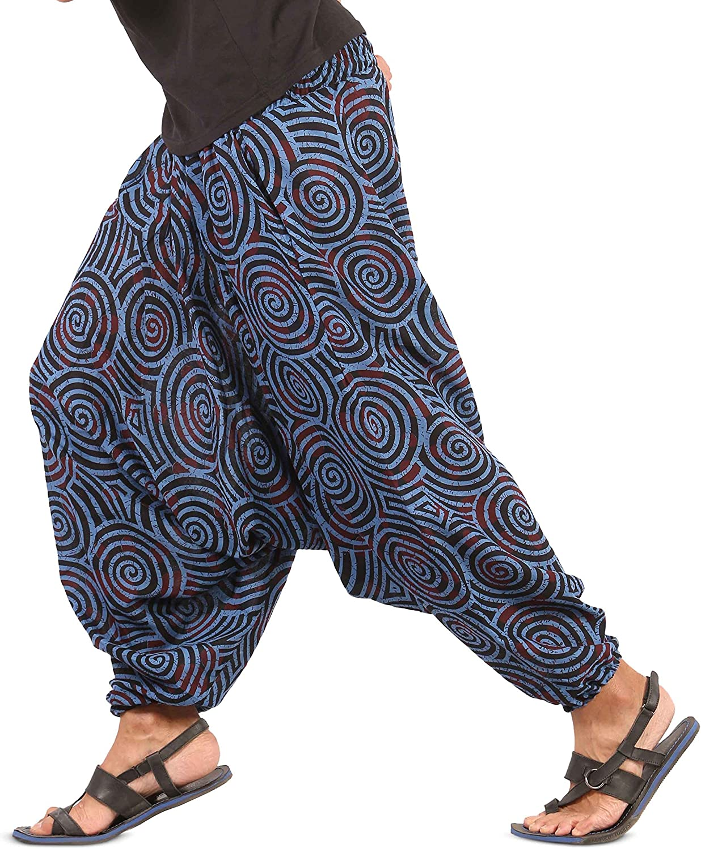 Brown Aladdin Pants Harem pants stonewashed for men and women Genie Pants Boho Hippie Goa Pants