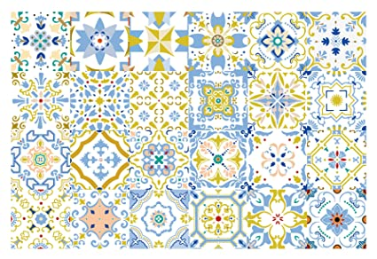 Amazon G GSS Designs 40 PC Pack Decorative Tile Stickers By Mesmerizing Decorative Tile Designs