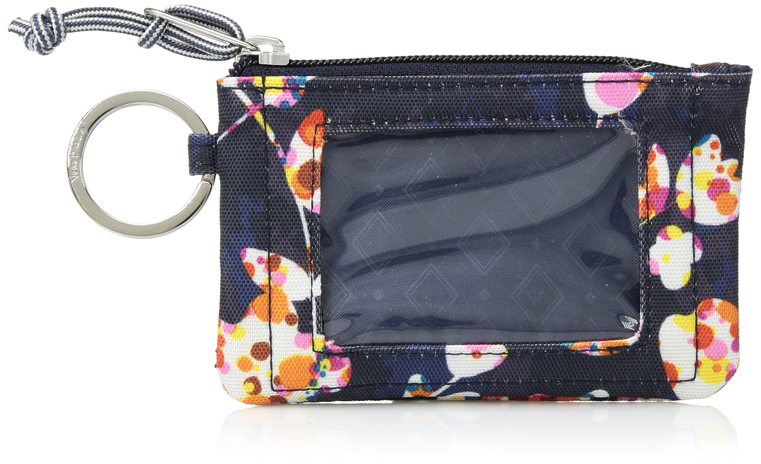 Vera Bradley Lighten Up Zip ID Case, Polyester, Cut Vines