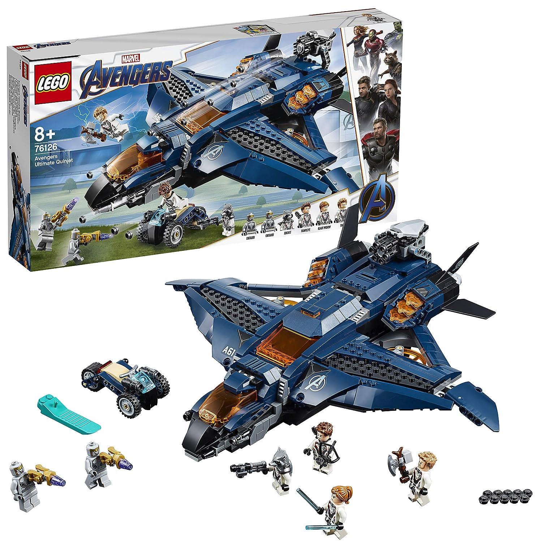LEGO Super Heroes - Quinjet Definitivo de los Vengadores, Avión de Combate para Recrear las Aventuras de los Avengers (76126): Amazon.es: Juguetes y juegos