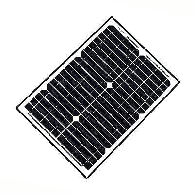 ALEKO SP20W24V 20 Watt 24 Volt Monocrystalline Solar Panel for Gate Opener Pool Garden Driveway : Garden & Outdoor