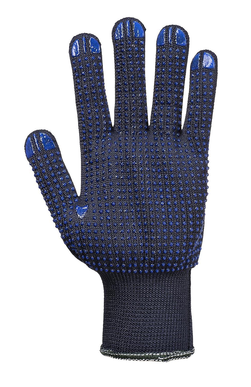 DD PPE DD110 12 x Pairs Nylon Polka Dot Palm Work Wear Garden DIY Grip Gloves 8//Medium, Navy