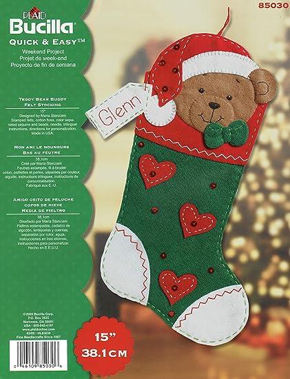 """Bucilla """"Teddy Bear Buddy"""" Felt Applique ..."""