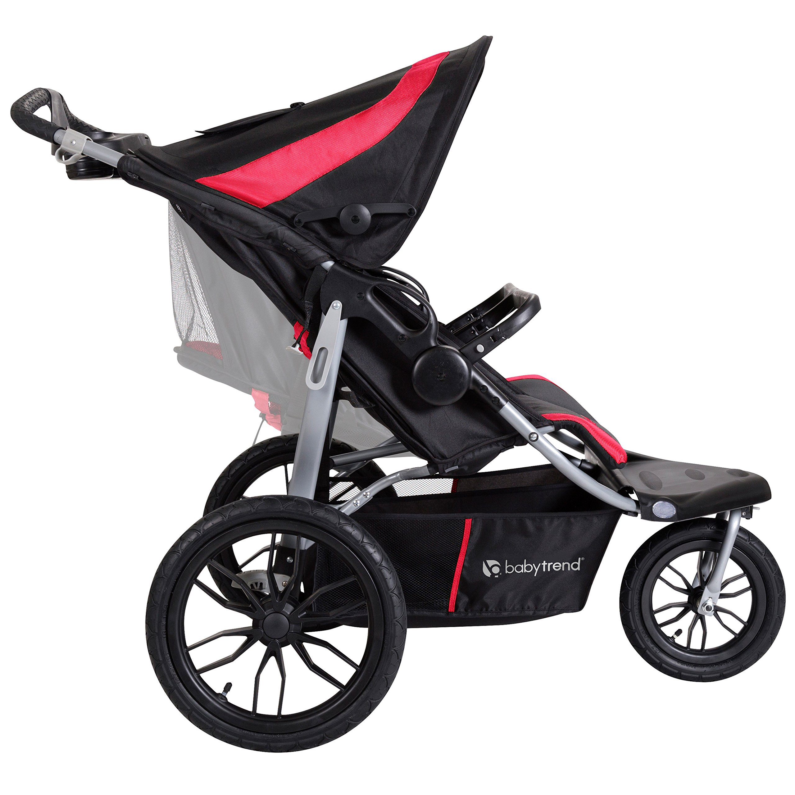 Baby Trend Navigator Lite Double Jogger Stroller, Candy Apple by Baby Trend (Image #3)