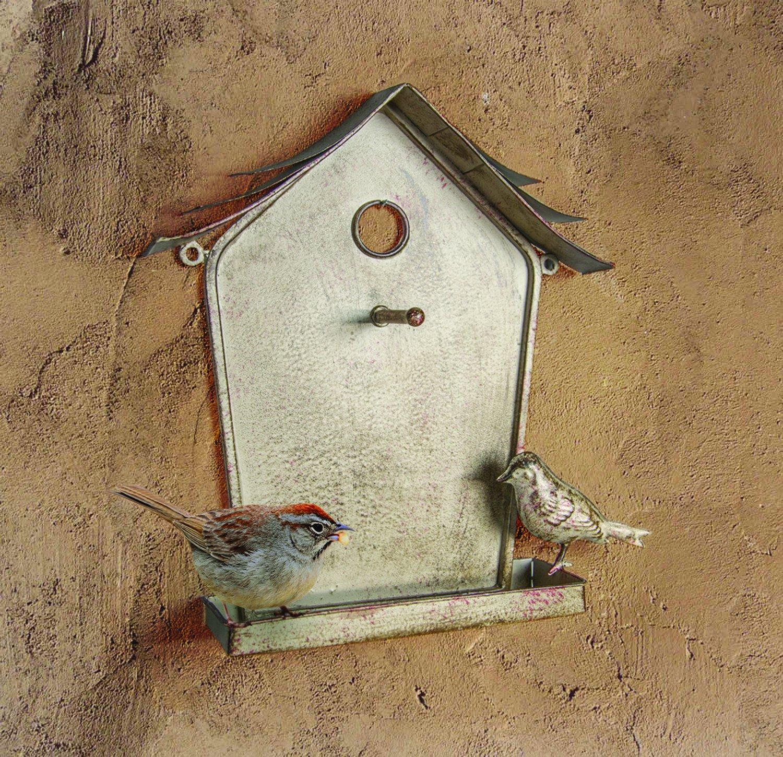 MW Wall Birdhouse Birdfeeder 10X13.5X2.5