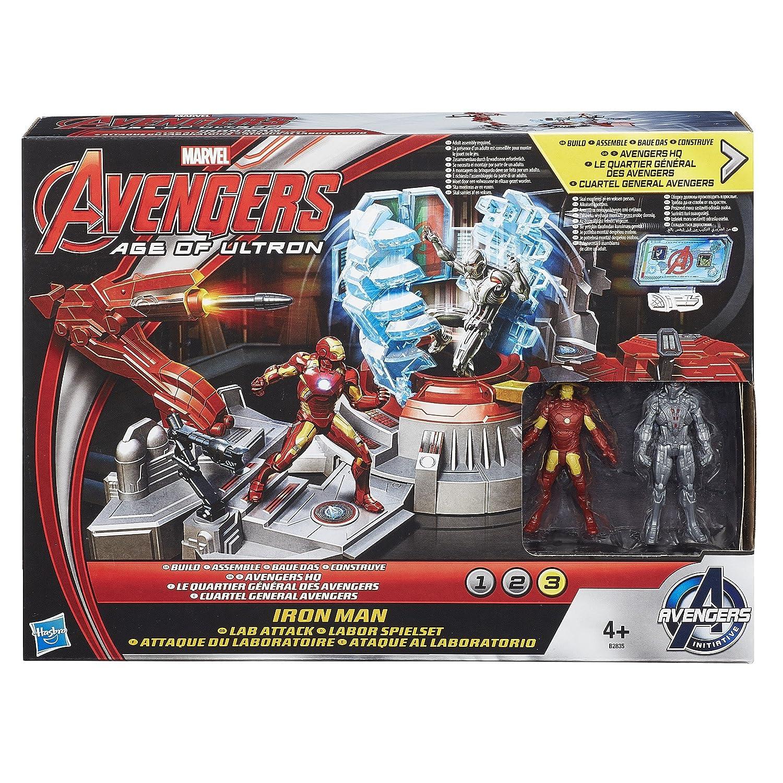 Marvel Avengers Edad de Ultron Iron Man Lab Attack Playset fTvEjd