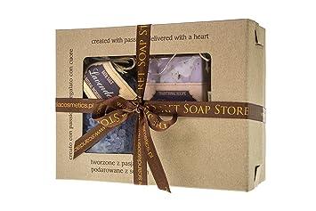 Set regalo 3 pezzi cosmetici alla lavanda per la cura del corpo
