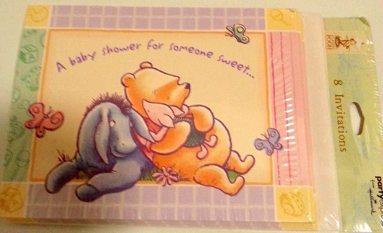 Amazon Com Winnie Pooh Clásico Invitar Invitaciones A