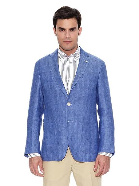 Pedro del Hierro Chaqueta Clásica Hombre Azul ES 48: Amazon.es: Ropa y accesorios