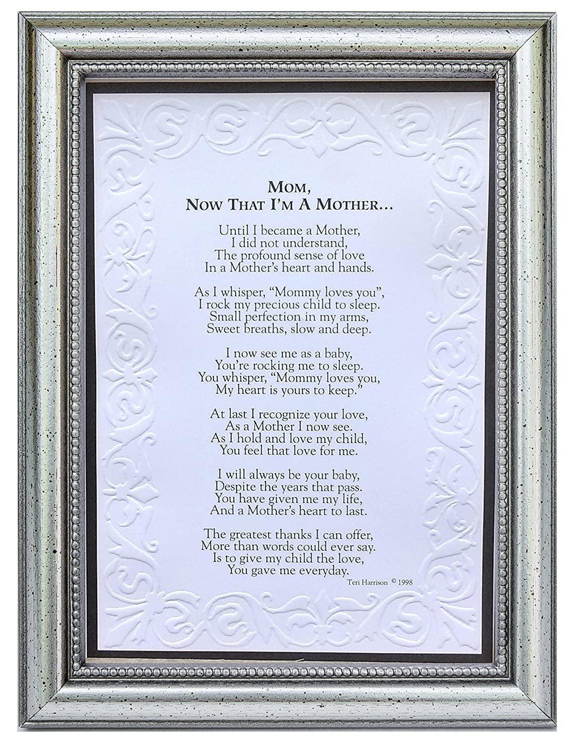 Silver Frame The Grandparent Gift Jesus Loves Me Frame for Babys Baptism or Christening