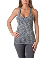 Riverberry Womens Actives Racerback Yoga Workout Exercise Top with Built-in Shelf Bra