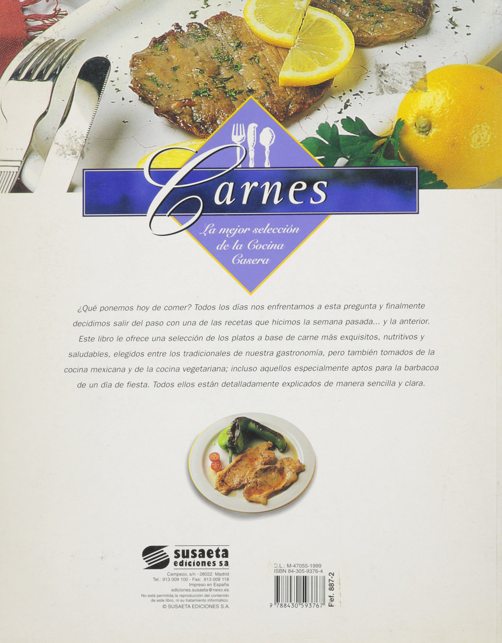 Carnes - La Mejor Seleccion de La Cocina Casera (Spanish Edition): Susaeta: 9788430593767: Amazon.com: Books