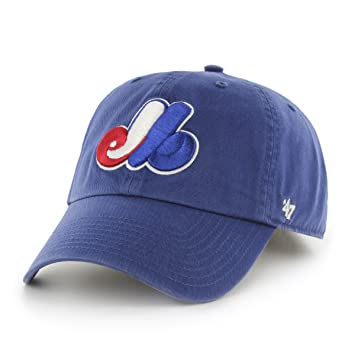 b5747d4f845b9 47 Brand MLB Montreal Expos Clean up Adjustable Hat (Royal