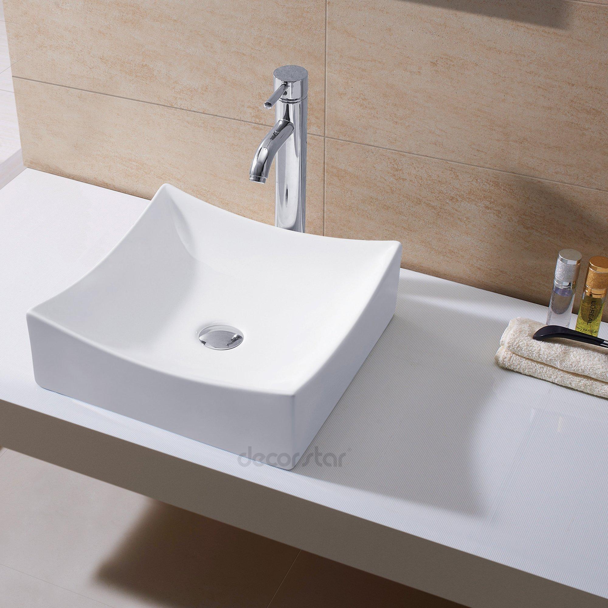 Decor Star CB-016 Bathroom Porcelain Ceramic Vessel Vanity Sink Art Basin