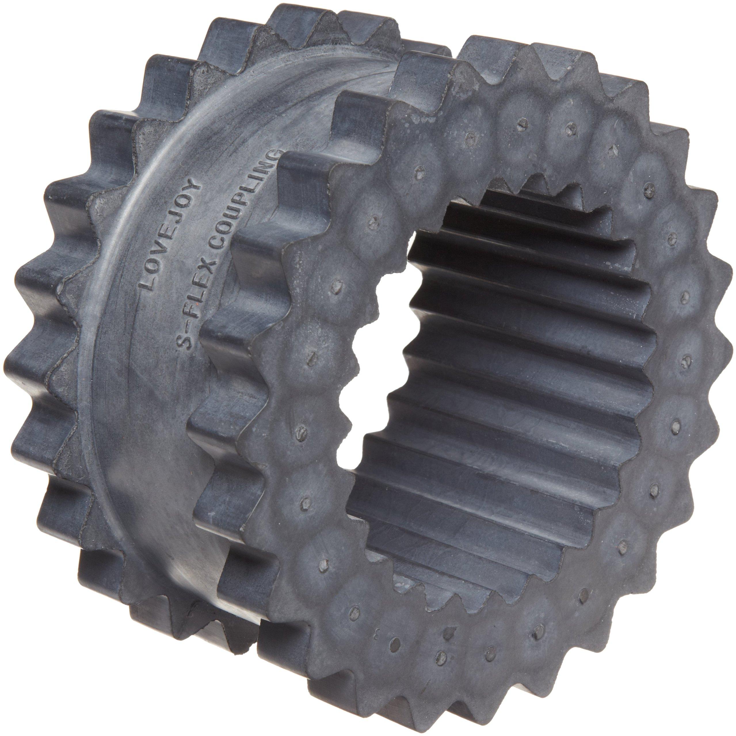 Lovejoy 36405 Size 9JE Solid Design S-Flex Coupling Sleeve, EPDM Rubber, 6'' OD, 3'' Elastomer Length, 1800 in-lbs Nominal Torque