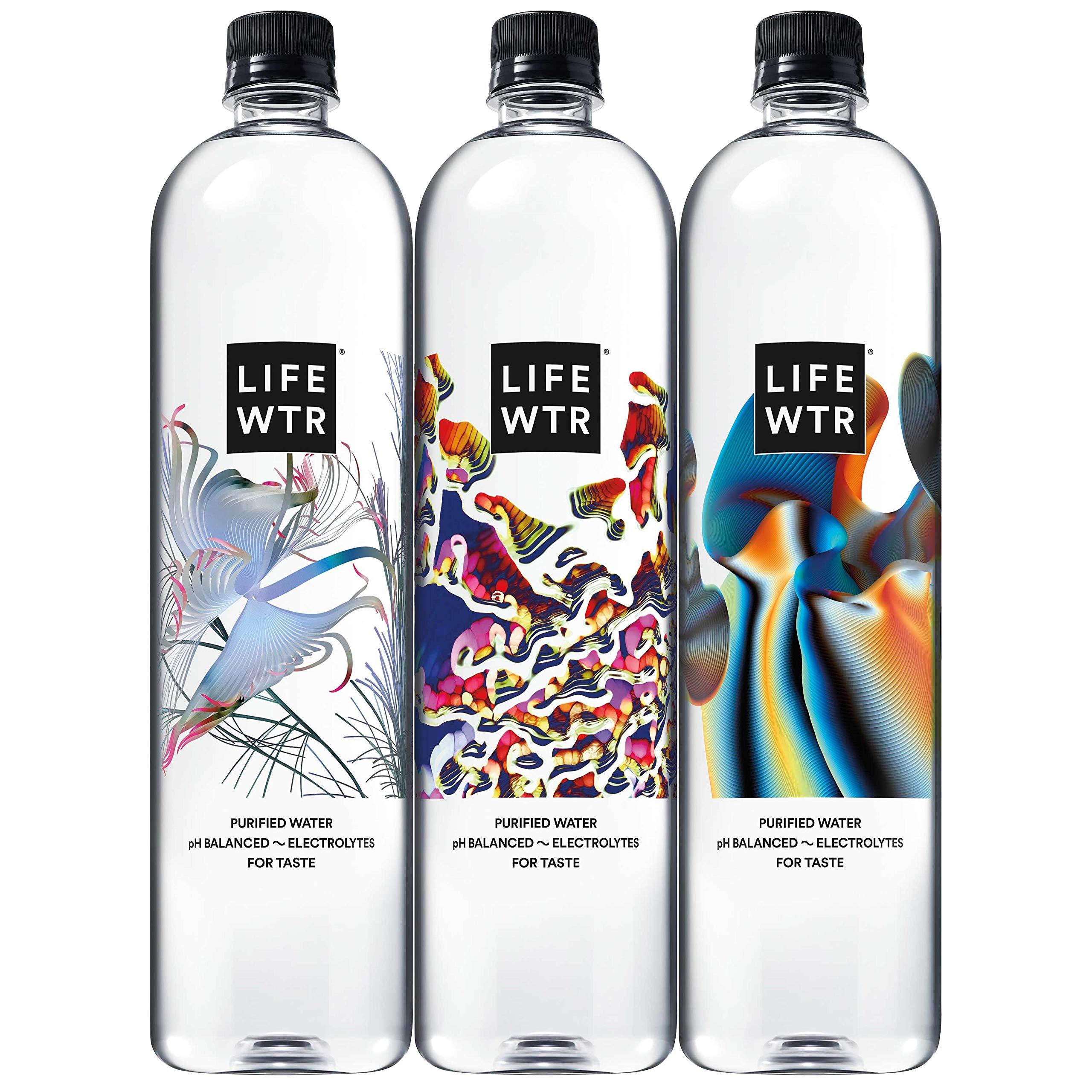 LIFEWTR, Premium Purified Water, pH Balanced with Electrolytes For Taste, 1 liter bottles