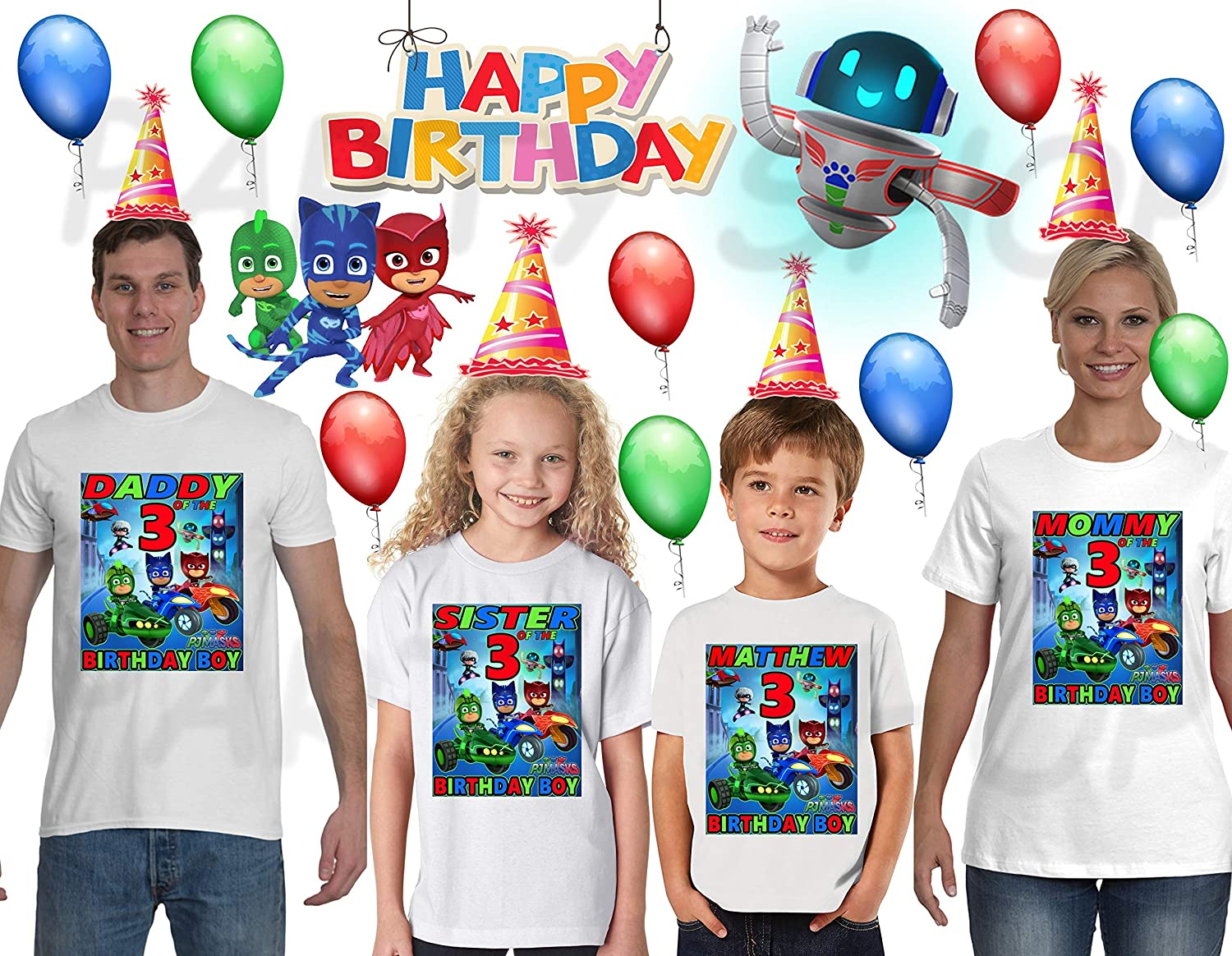 Super Mario and Luigi Custom T Shirt Party Favor Birthday Gift Personalize Name
