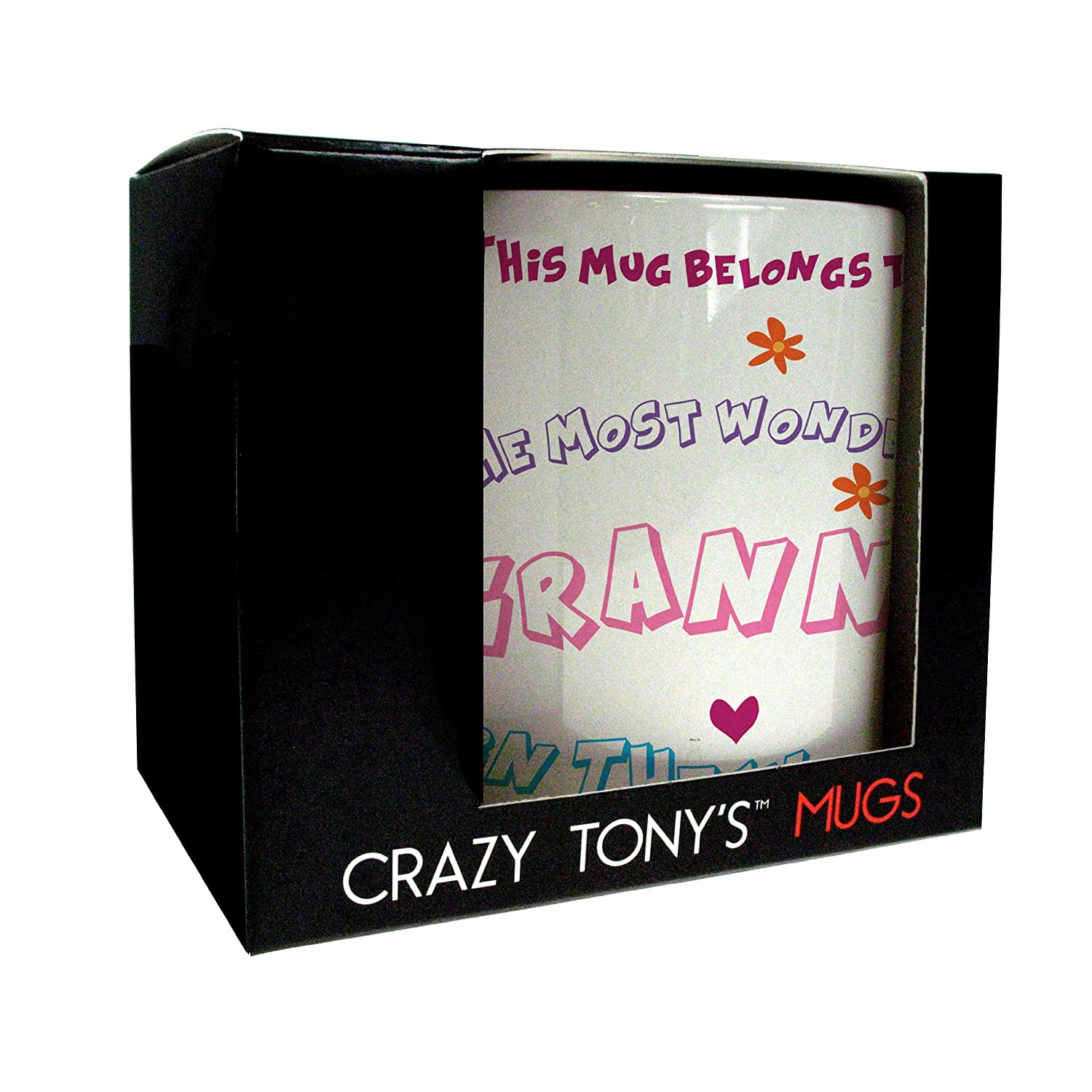 Personalised Best Granny In The World Mug, Crazy Tony's Best Granny Mug, Gifts For Her, Gifts For Granny, Personalised Gifts For Grannies: Amazon.ca: Home & ...