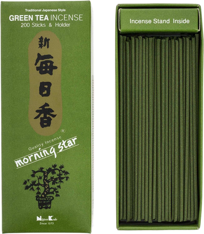 incienso japones Morning Star Té Verde Incienso, 200 barritas