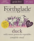 Forthglade 100% Natural Complete Meal Grain Free Puppy Dog Pet Food Duck, Sweet Potato & Vegetables 395g (7 Pack)