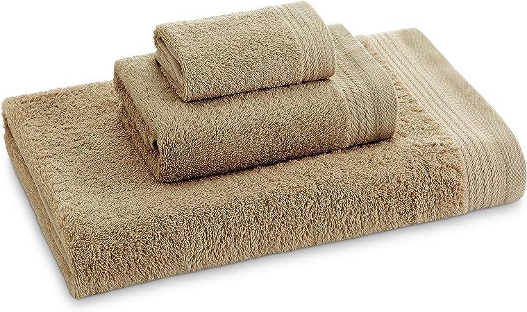 Eiffel Textile Juego de Toallas Calidad Rizo 600 gr, Algodón Egipcio 100%, Camel, 100x150 cm, 3 Unidades: Amazon.es: Hogar