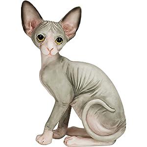 Amazon com: Willis Judd Sphynx Hairless Cat Standing Hand