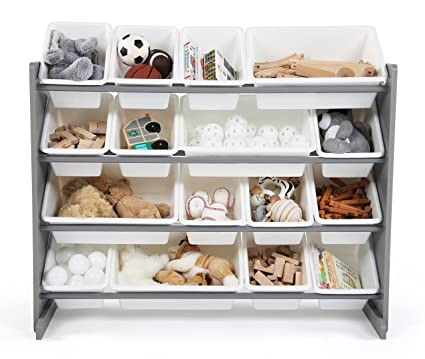 Tot Tutors WO701 Springfield Collection Wood Toy Storage Organizer Extra Large Grey/White  sc 1 st  Amazon.com & Amazon.com: Tot Tutors WO701 Springfield Collection Wood Toy Storage ...