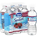 NESTLE SPLASH Water Beverages with Natural Fruit Flavors, Wild Berry 16.9-ounce plastic bottles, 6 ct