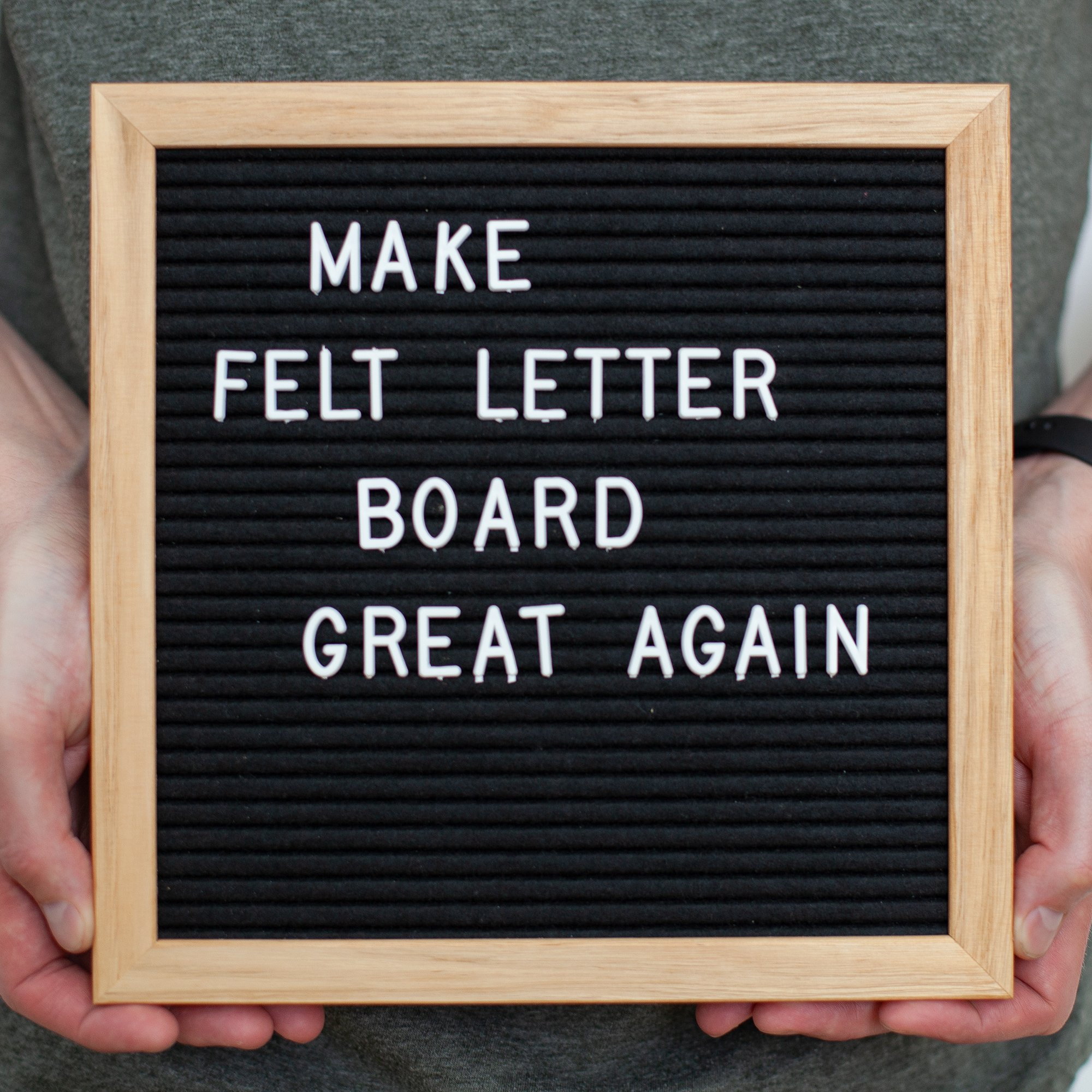 10x10 Inch Black Felt Letter Board - Plentiful 680 Changeable White Letters to Cover Multiple Usage Scenarios - Durable Oak Frame by DraiviMedia (Image #2)